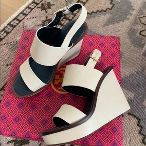 Worn once Tory Burch wedges